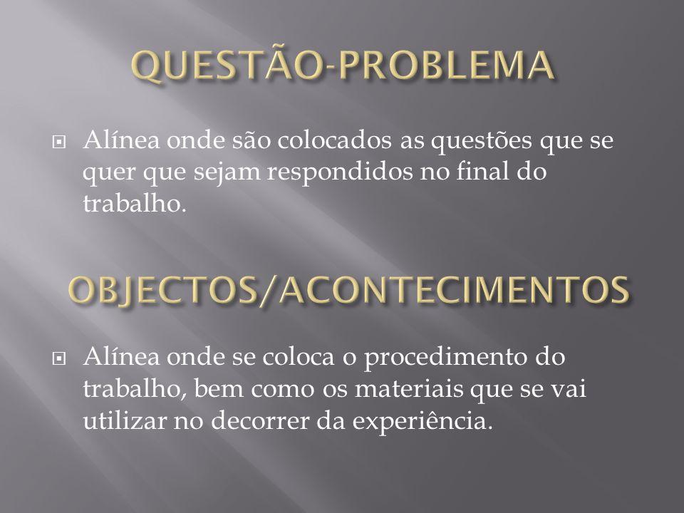 OBJECTOS/ACONTECIMENTOS