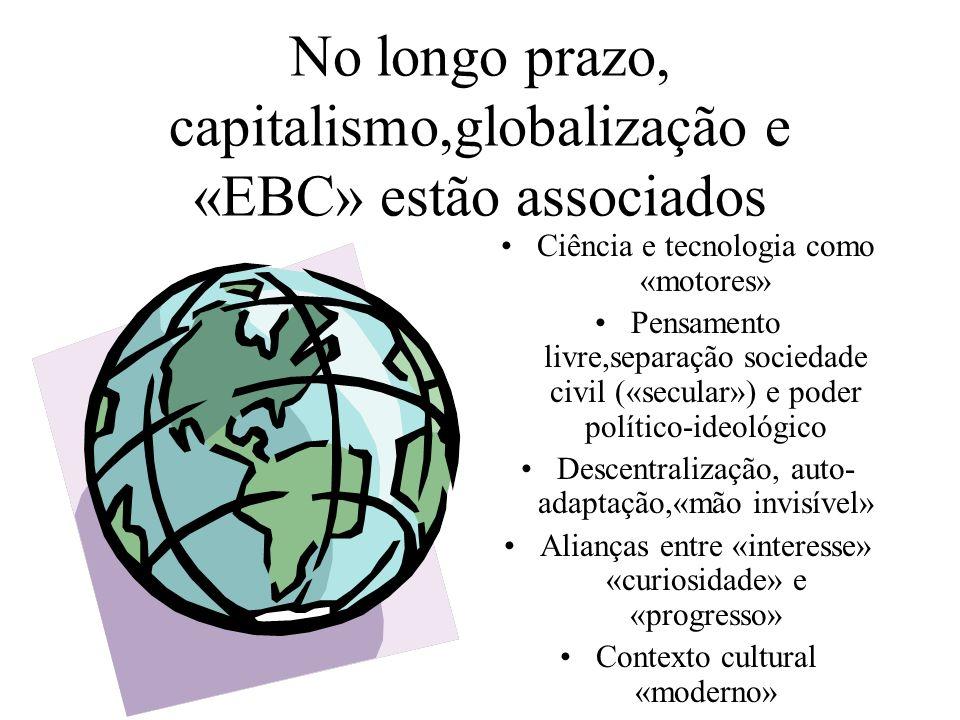 No longo prazo, capitalismo,globalização e «EBC» estão associados