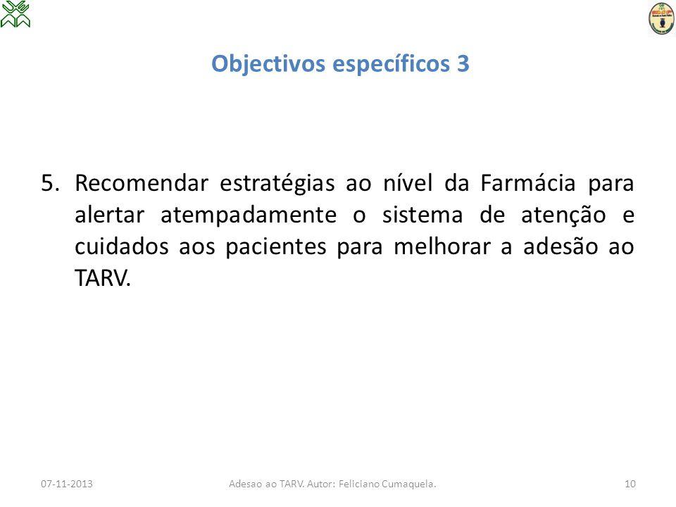 Objectivos específicos 3