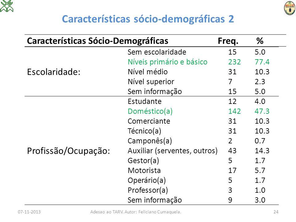 Características sócio-demográficas 2