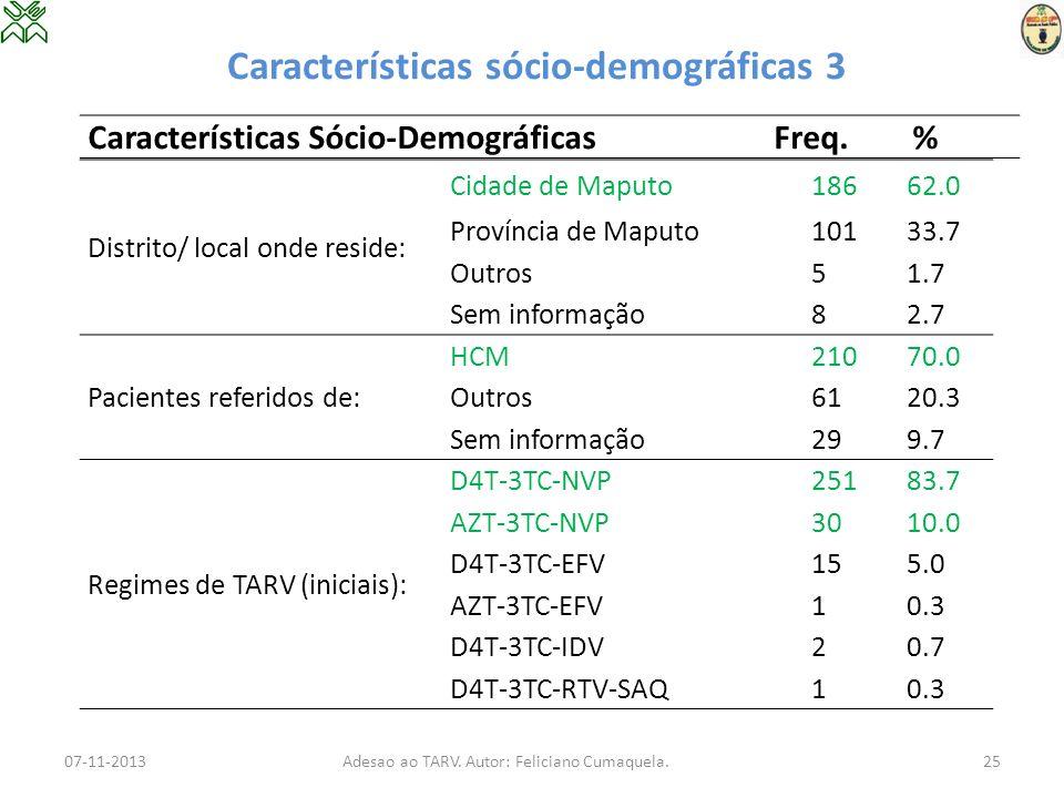 Características sócio-demográficas 3