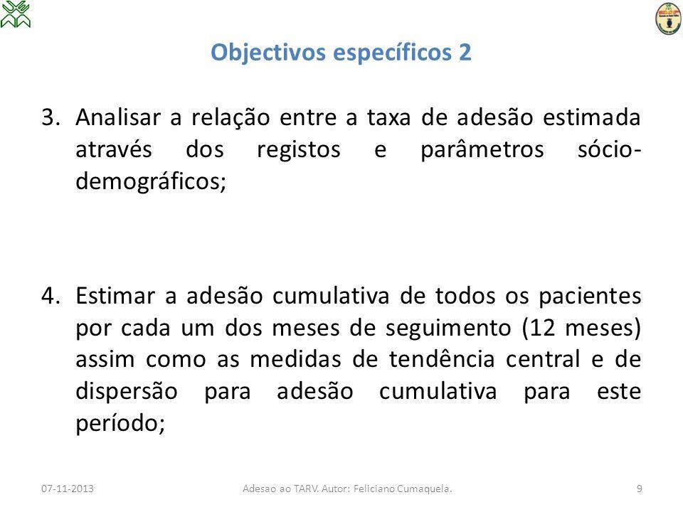 Objectivos específicos 2