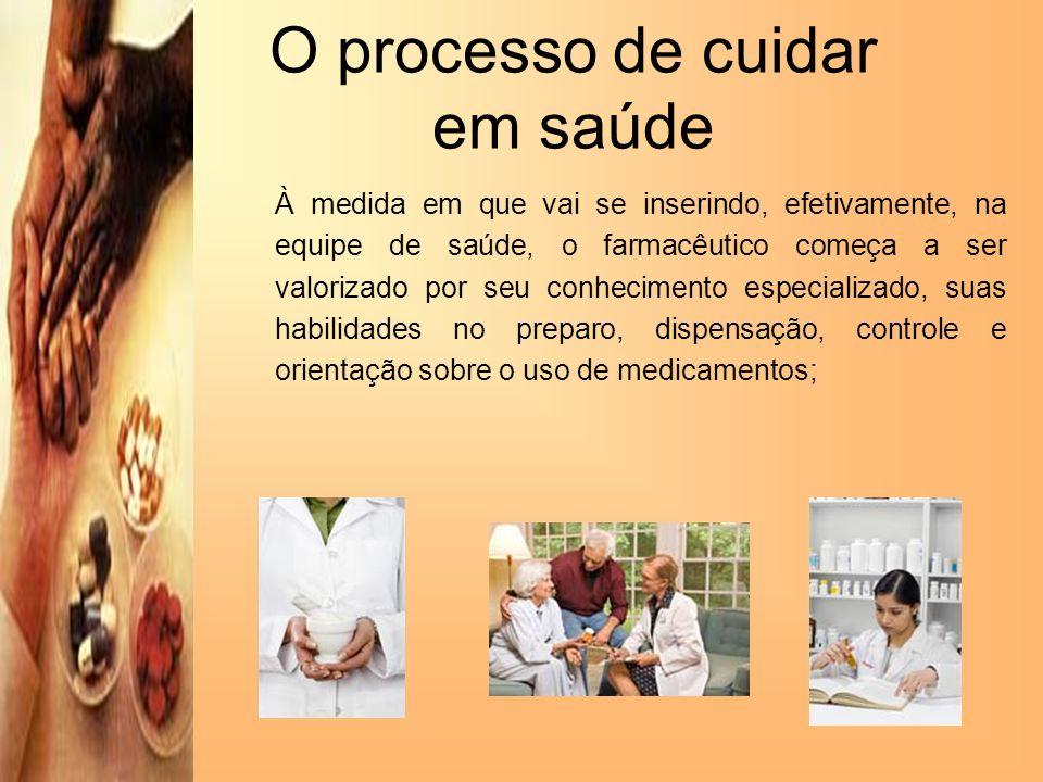O processo de cuidar em saúde