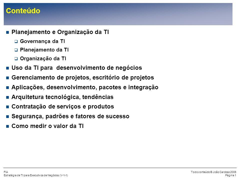 Conteúdo Planejamento e Organização da TI