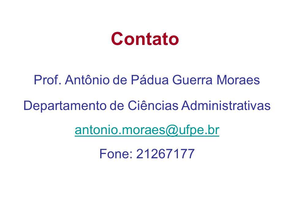 Contato Prof. Antônio de Pádua Guerra Moraes