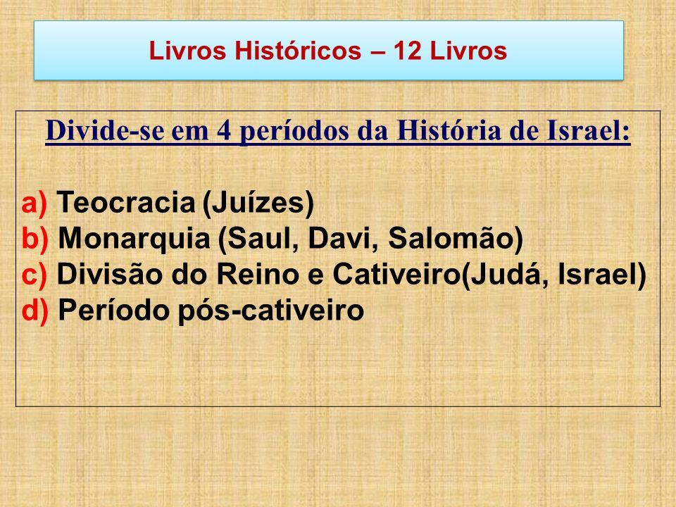 Livros Históricos – 12 Livros