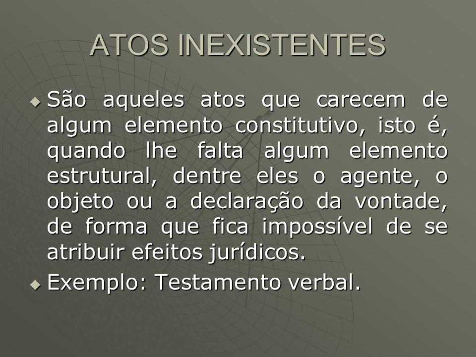 ATOS INEXISTENTES