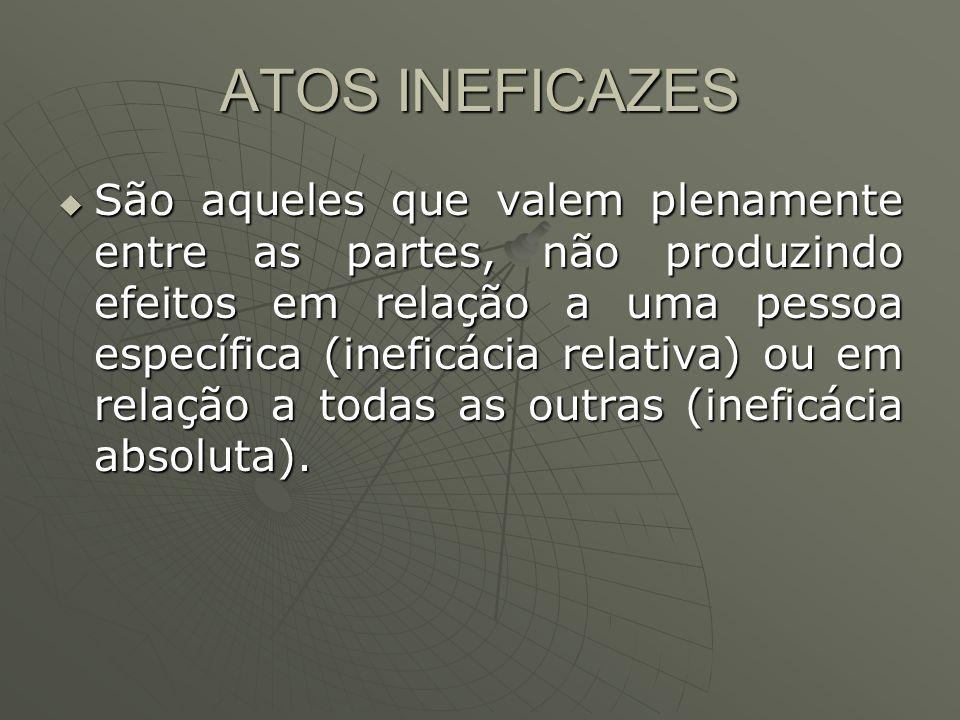 ATOS INEFICAZES