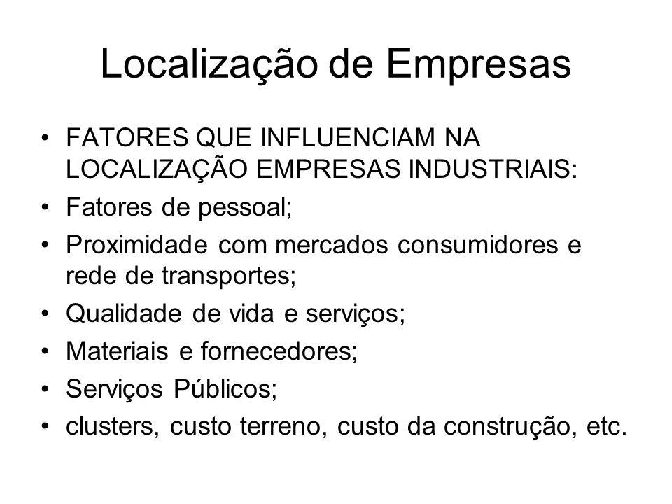 Localização de Empresas