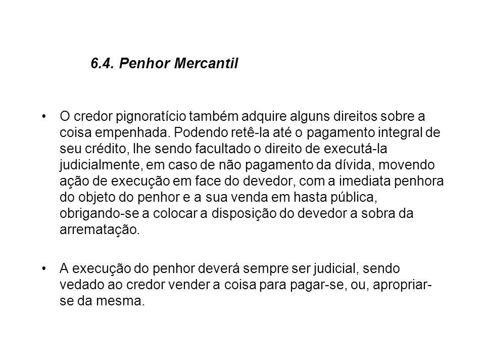 6.4. Penhor Mercantil