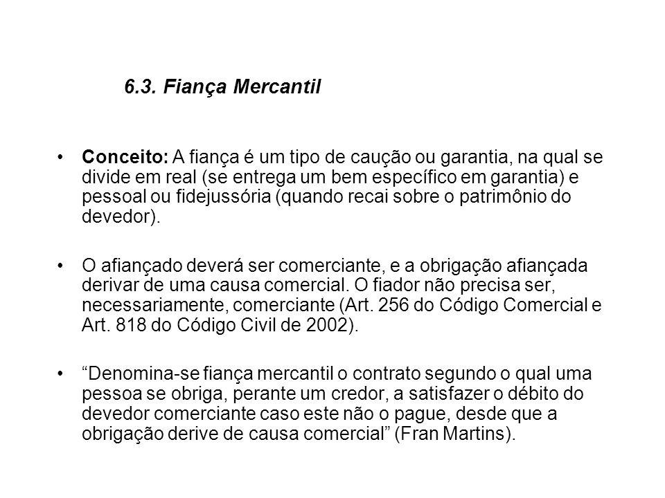 6.3. Fiança Mercantil