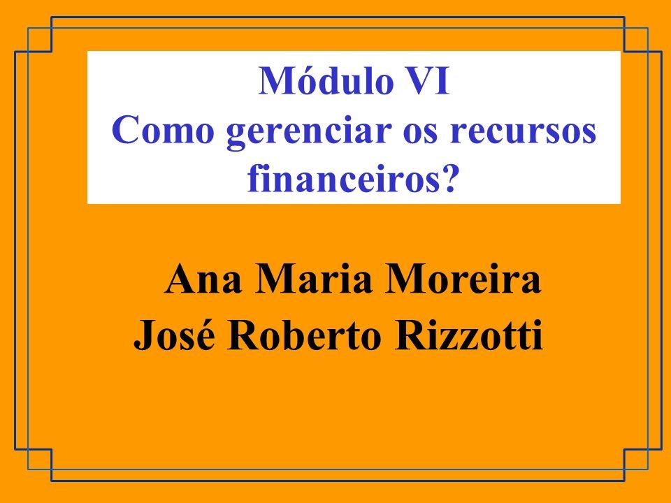 Módulo VI Como gerenciar os recursos financeiros