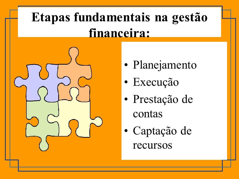 Etapas fundamentais na gestão financeira: