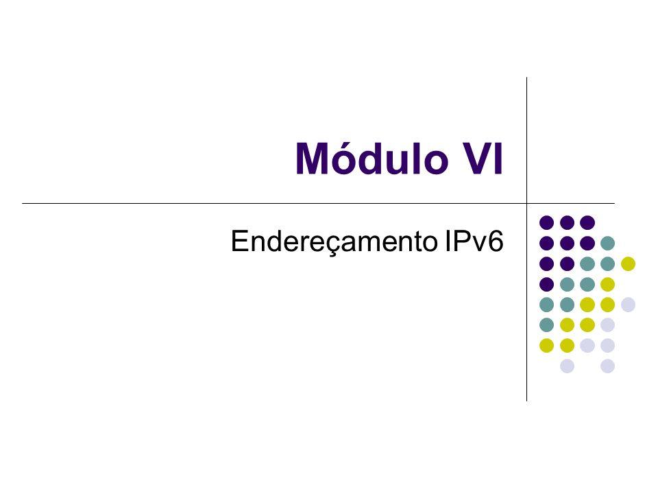 Módulo VI Endereçamento IPv6