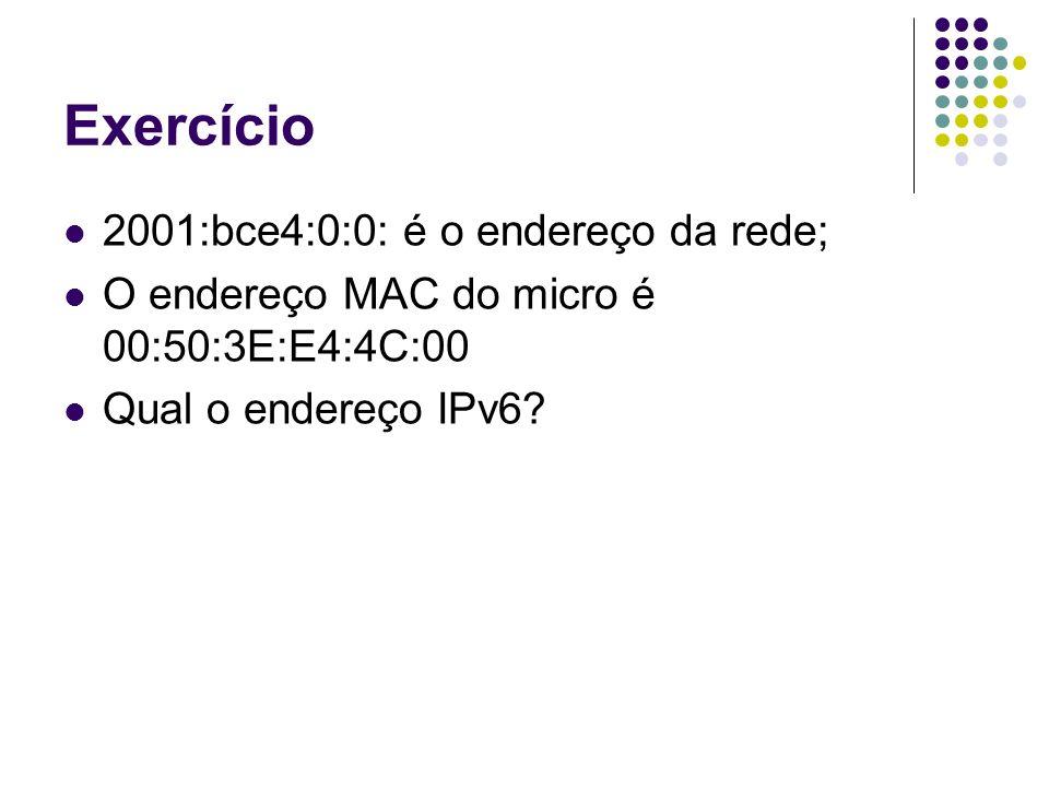 Exercício 2001:bce4:0:0: é o endereço da rede;