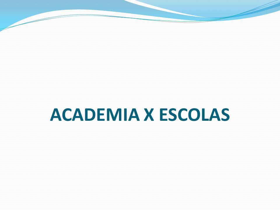 ACADEMIA X ESCOLAS