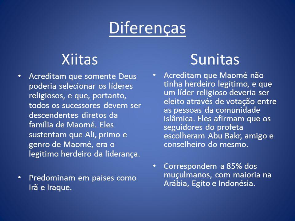 Diferenças Xiitas Sunitas