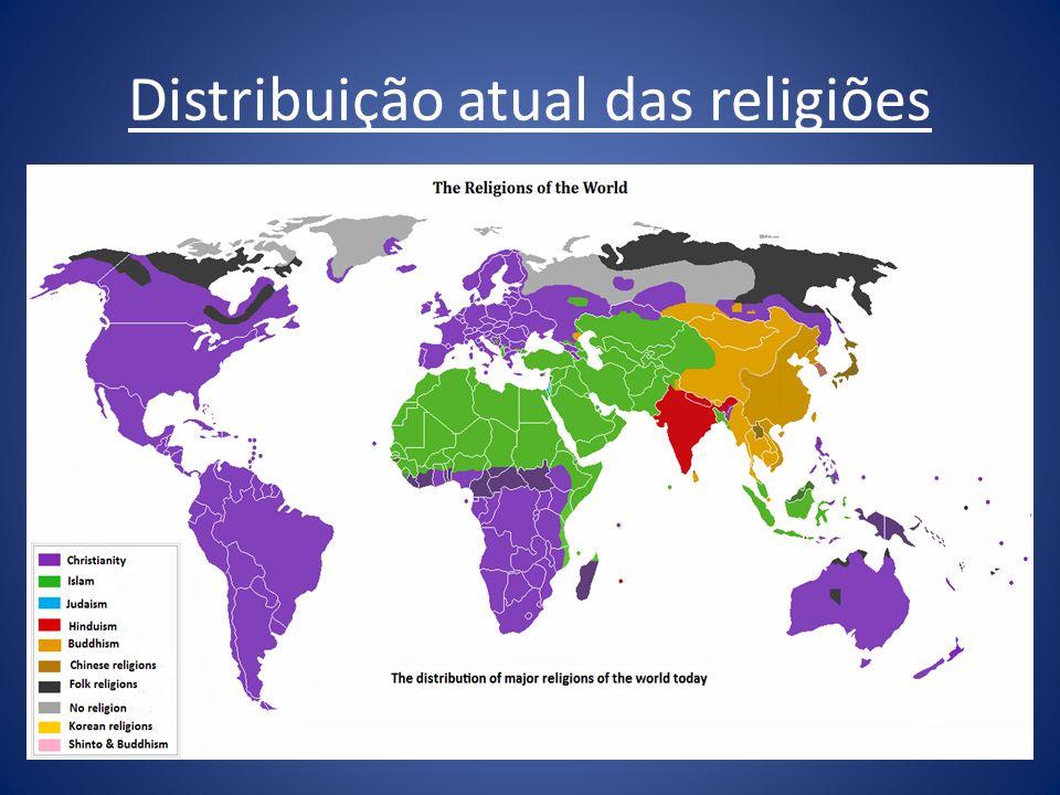 Distribuição atual das religiões