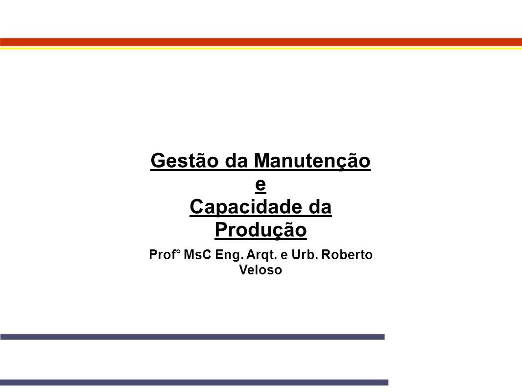 Capacidade da Produção Prof° MsC Eng. Arqt. e Urb. Roberto Veloso