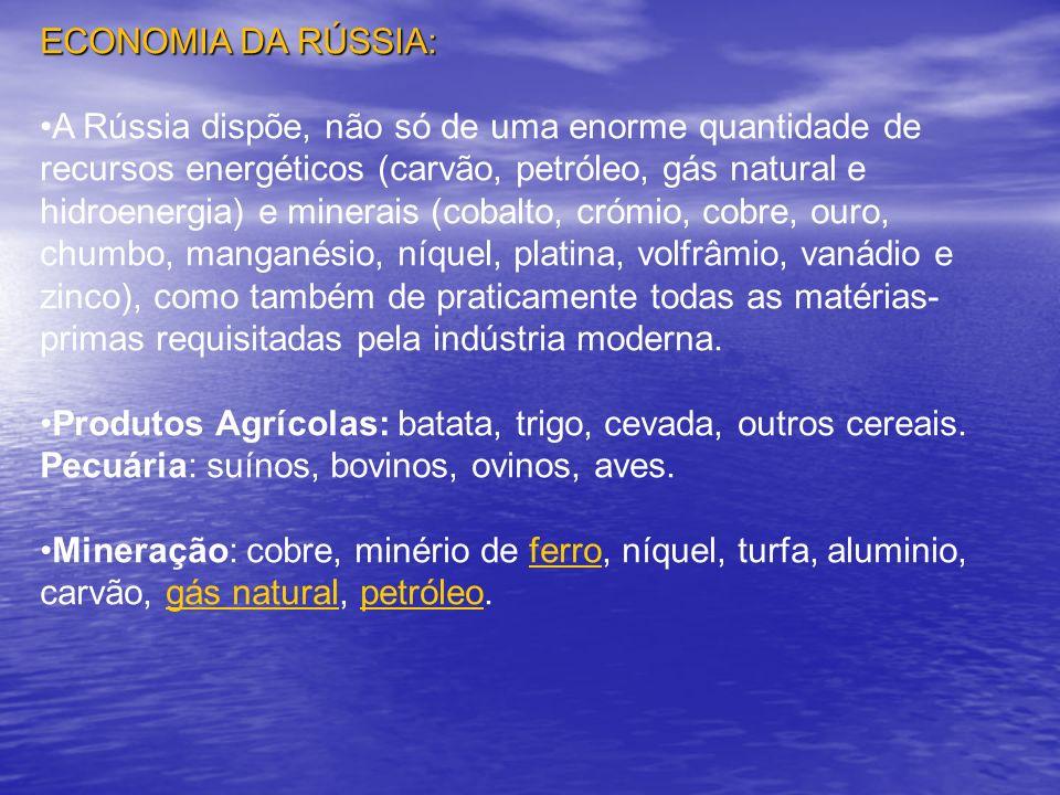 ECONOMIA DA RÚSSIA: