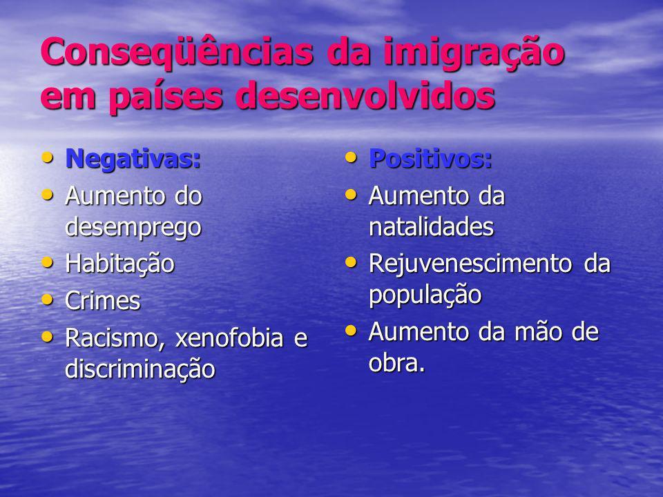 Conseqüências da imigração em países desenvolvidos
