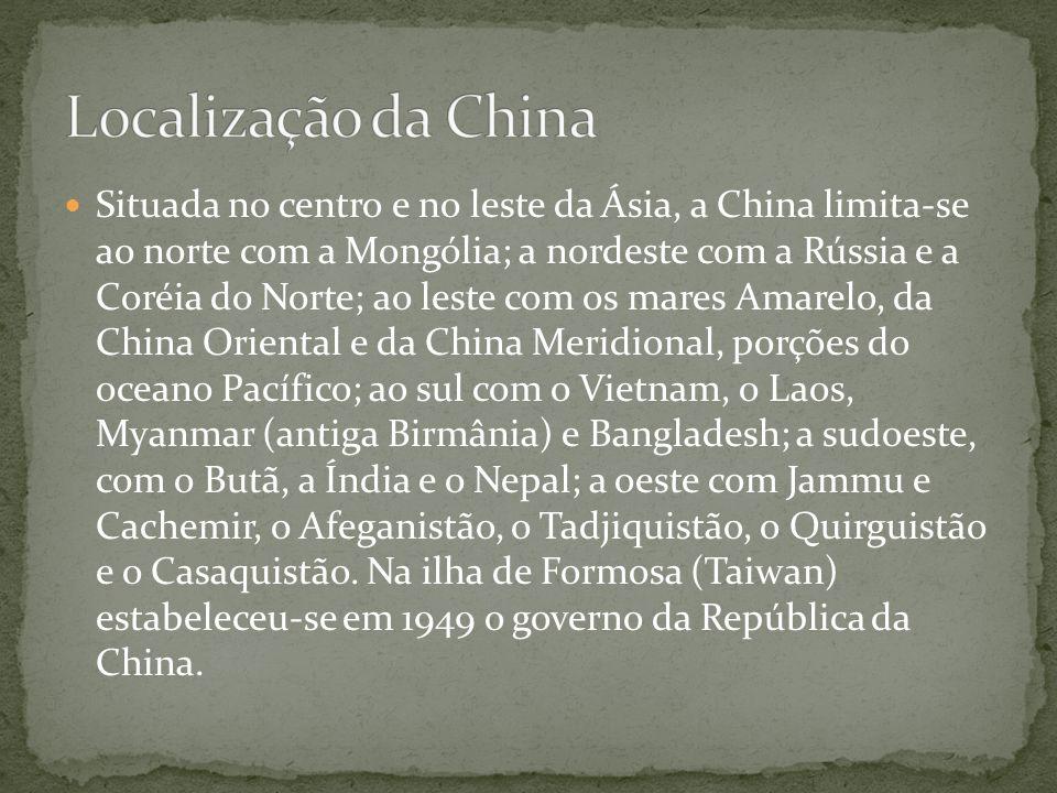 Localização da China