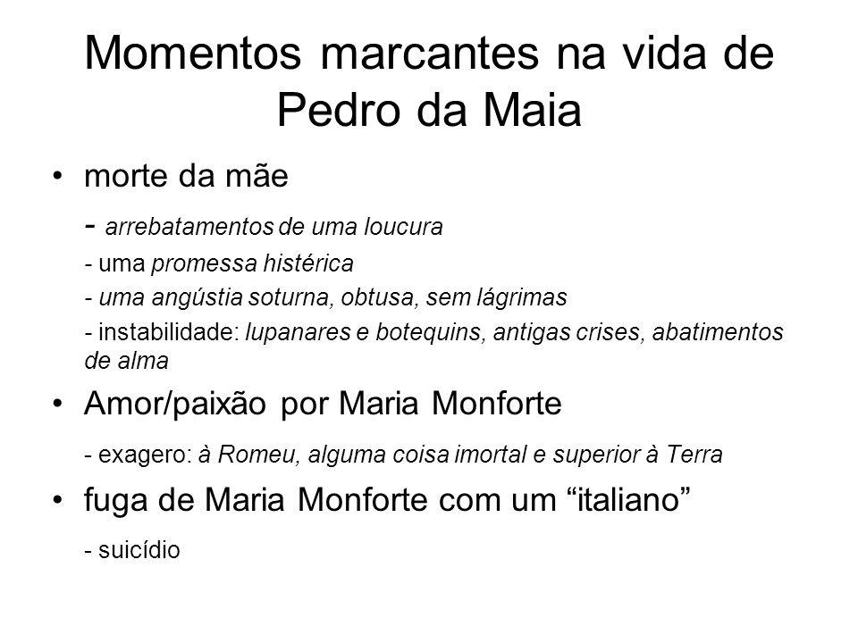 Momentos marcantes na vida de Pedro da Maia