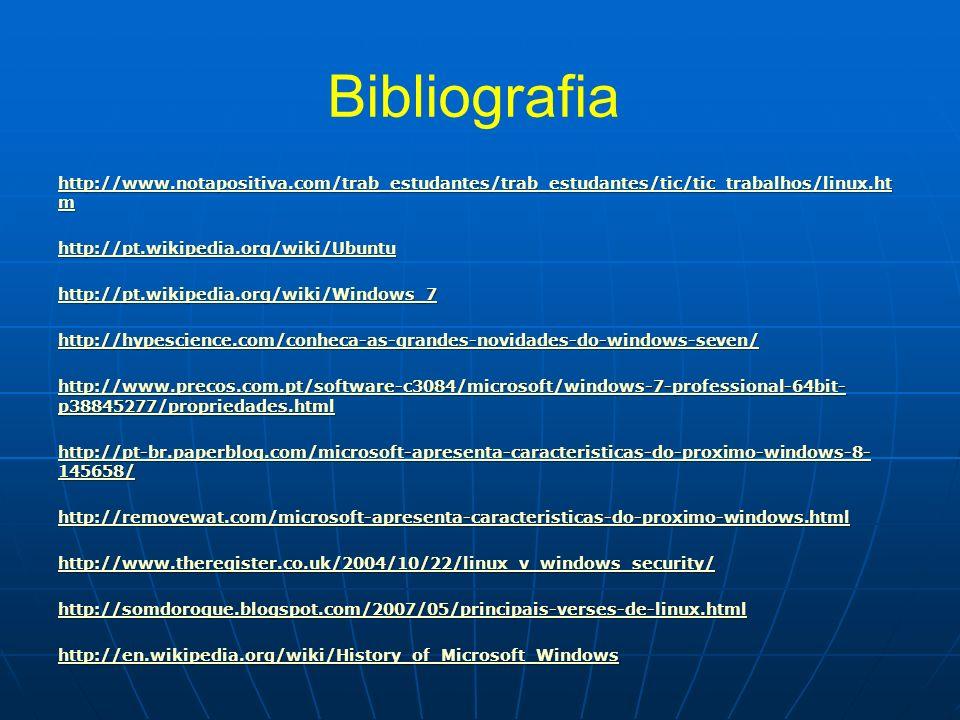 Bibliografia http://www.notapositiva.com/trab_estudantes/trab_estudantes/tic/tic_trabalhos/linux.htm.