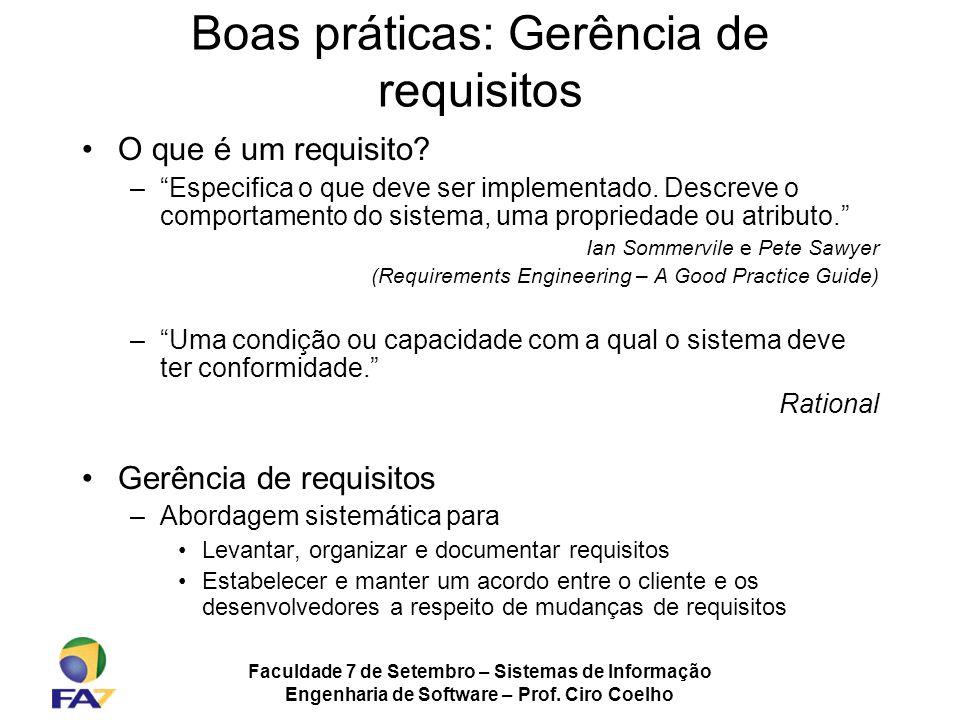 Boas práticas: Gerência de requisitos