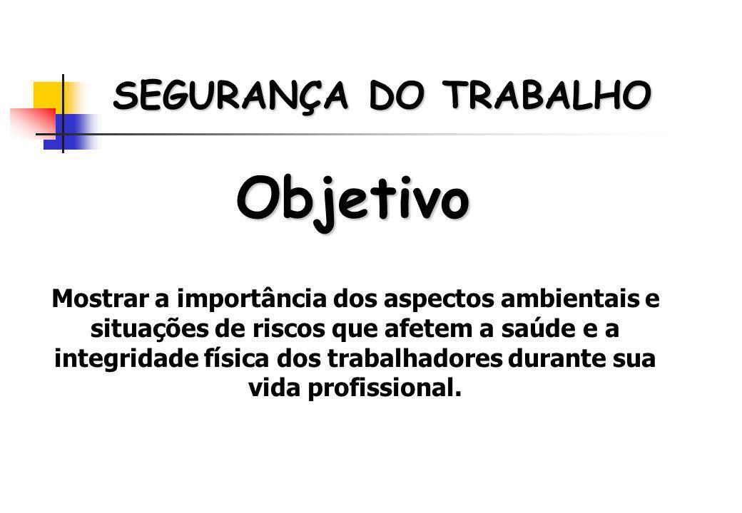 Objetivo SEGURANÇA DO TRABALHO