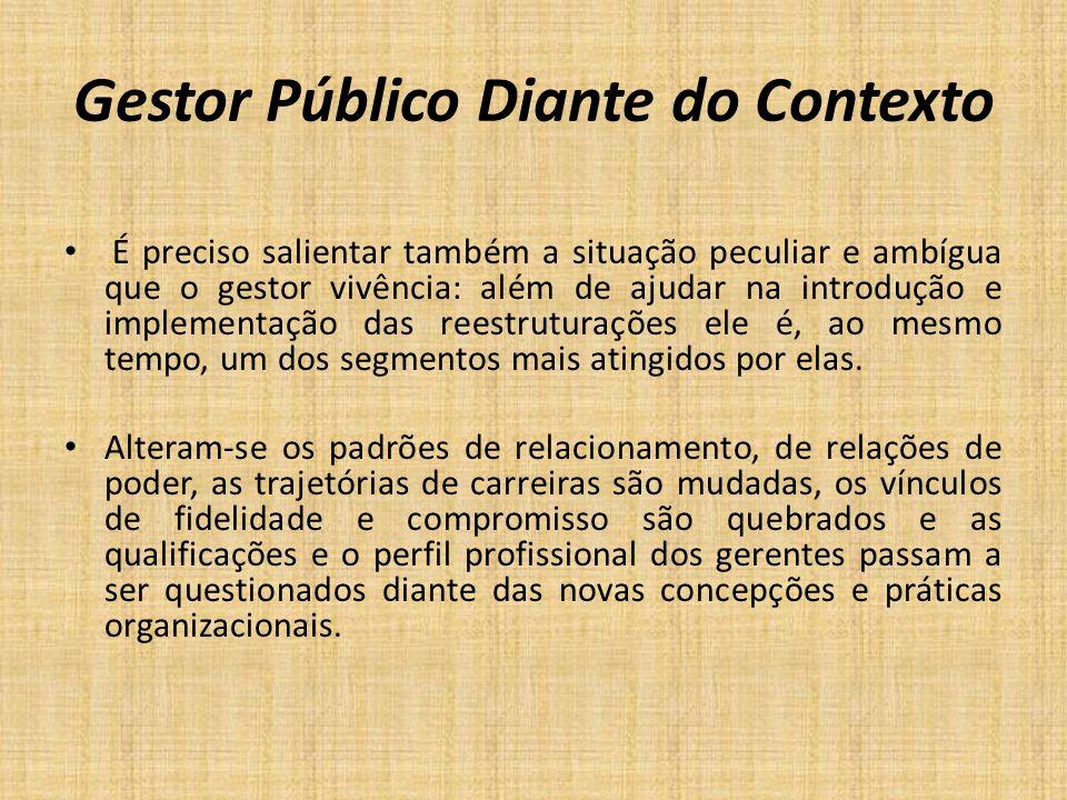Gestor Público Diante do Contexto