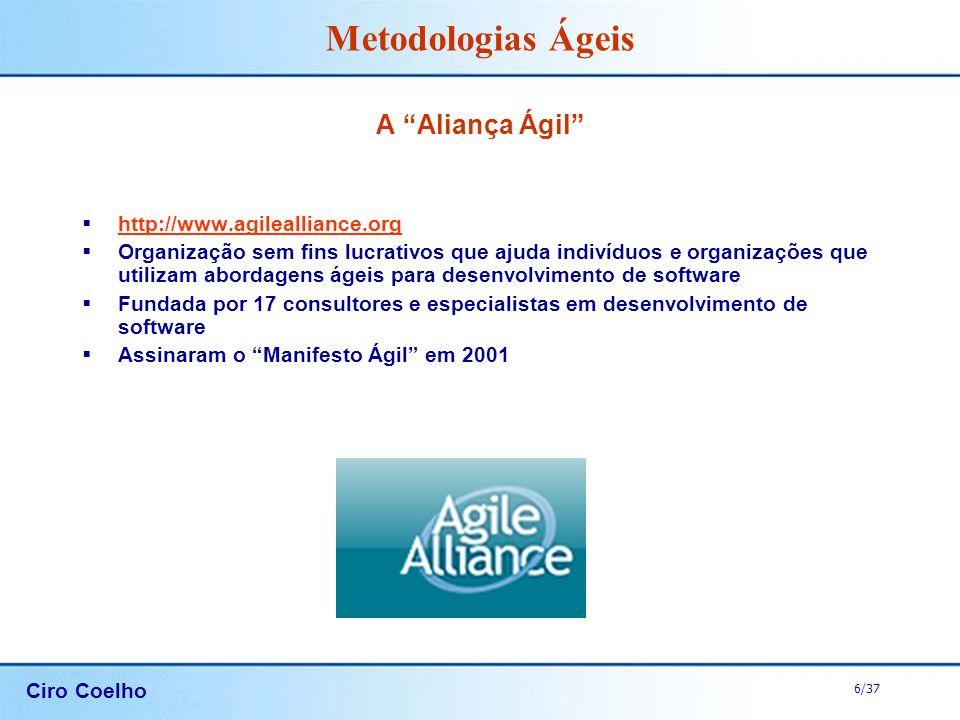 A Aliança Ágil http://www.agilealliance.org