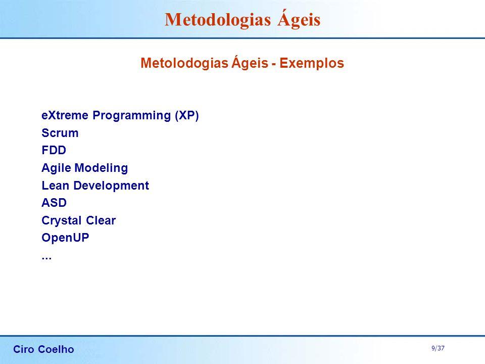 Metolodogias Ágeis - Exemplos