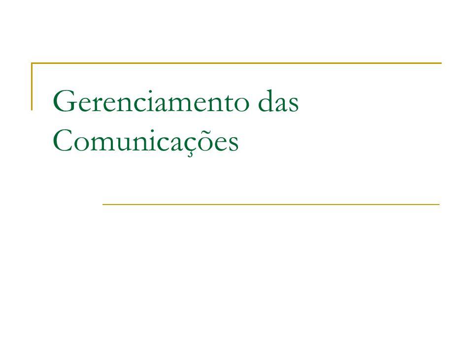 Gerenciamento das Comunicações