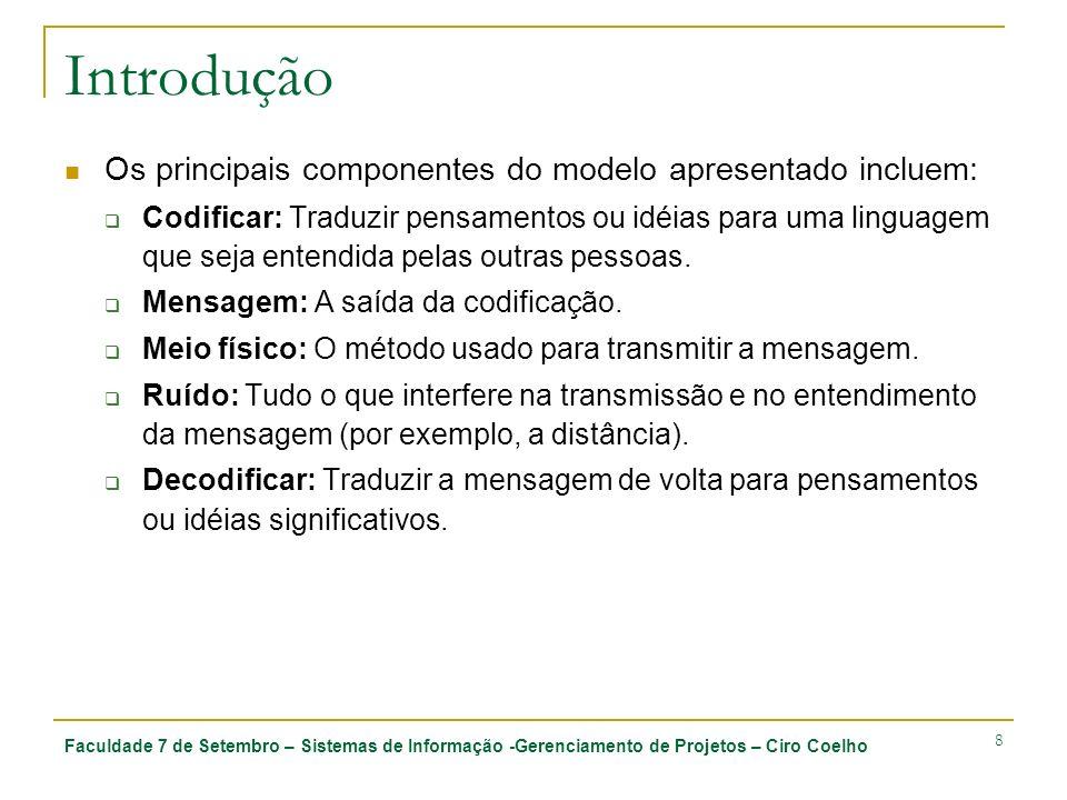 Introdução Os principais componentes do modelo apresentado incluem: