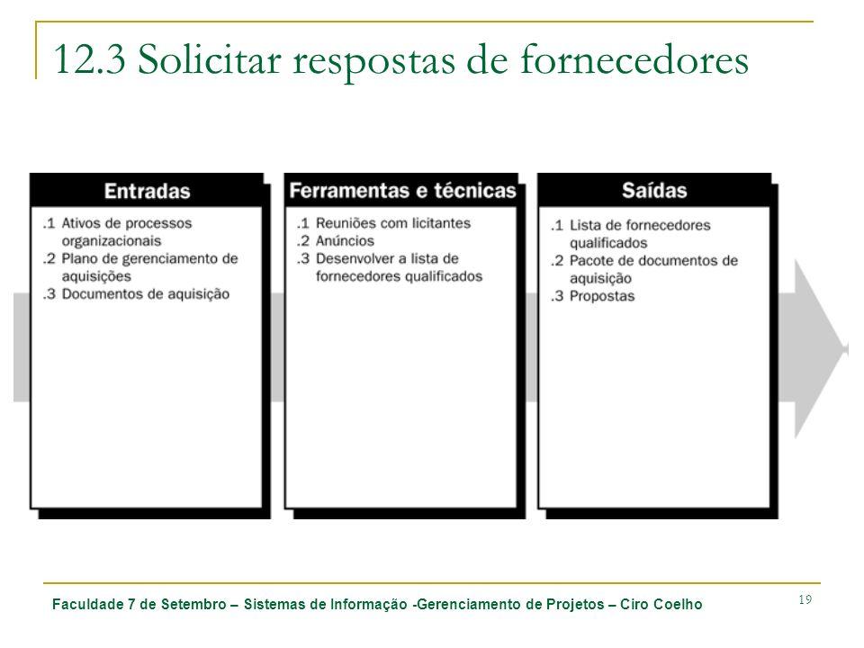 12.3 Solicitar respostas de fornecedores