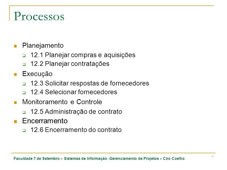 Processos Encerramento Planejamento Execução Monitoramento e Controle