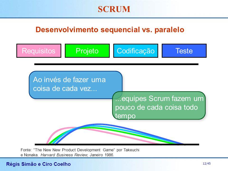Desenvolvimento sequencial vs. paralelo