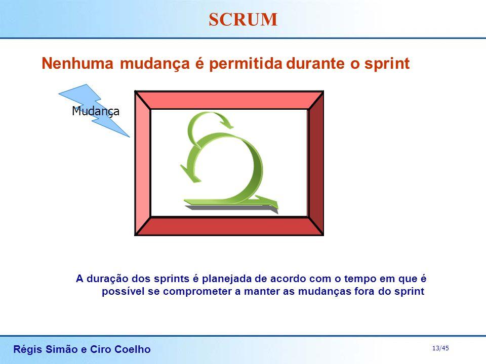 Nenhuma mudança é permitida durante o sprint