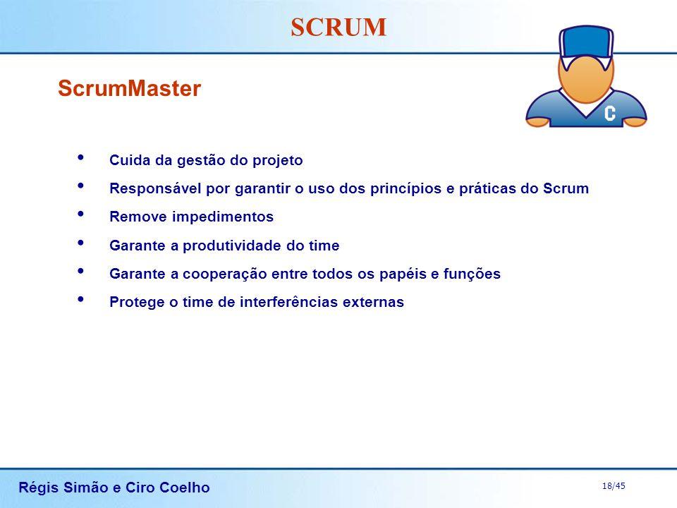 ScrumMaster Cuida da gestão do projeto