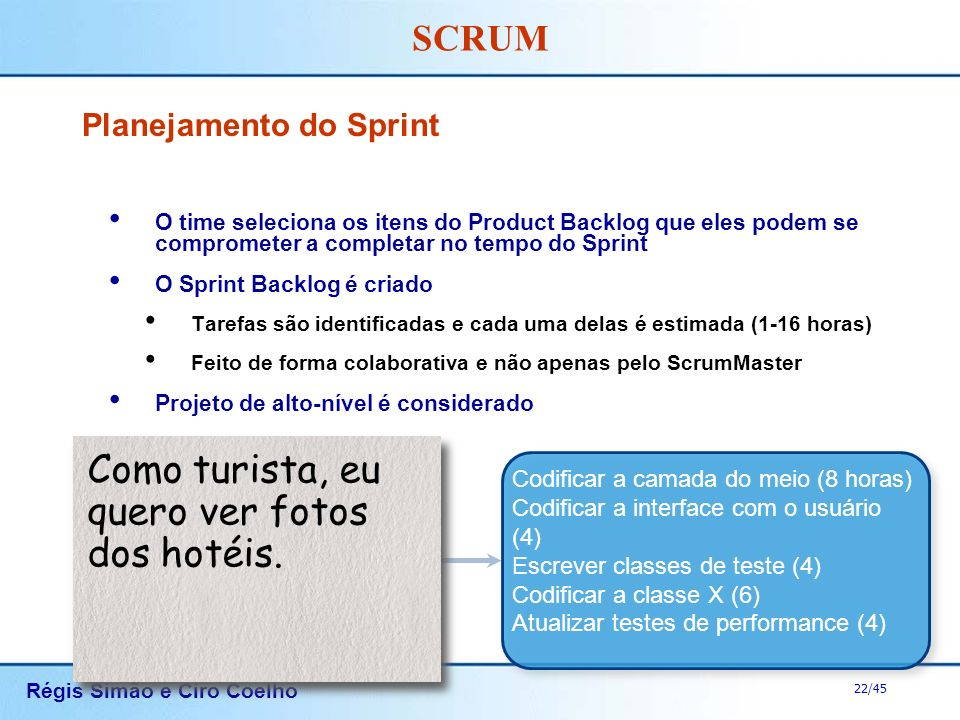 Planejamento do Sprint