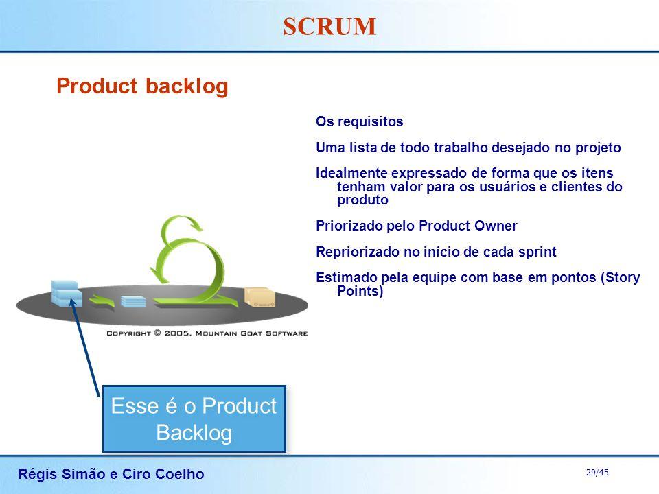 Esse é o Product Backlog