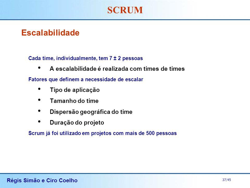 Escalabilidade A escalabilidade é realizada com times de times