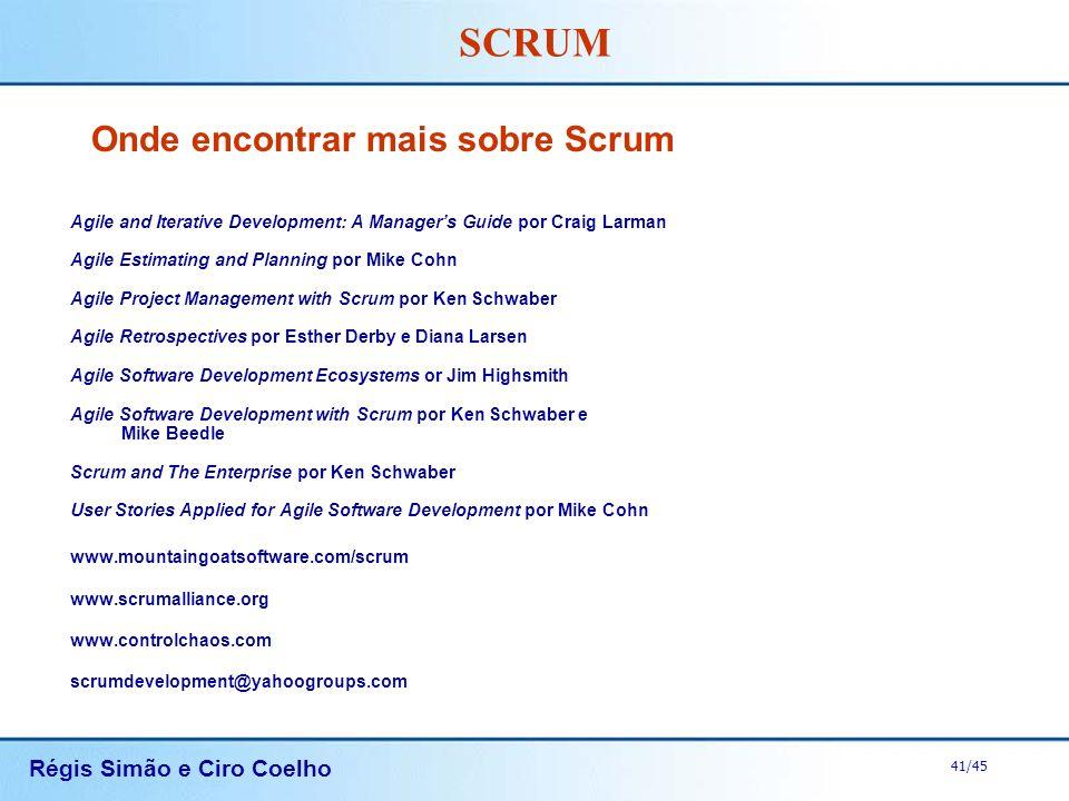 Onde encontrar mais sobre Scrum