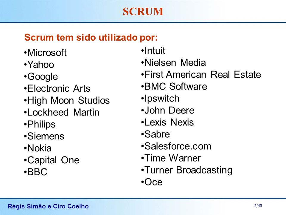 Scrum tem sido utilizado por: