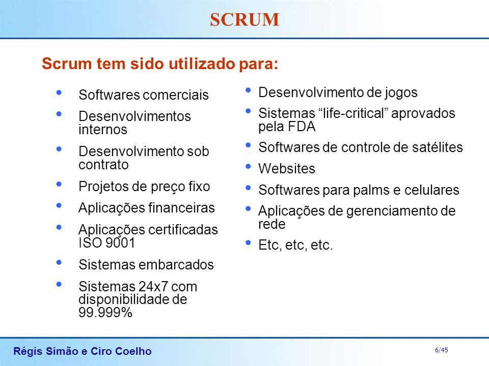 Scrum tem sido utilizado para: