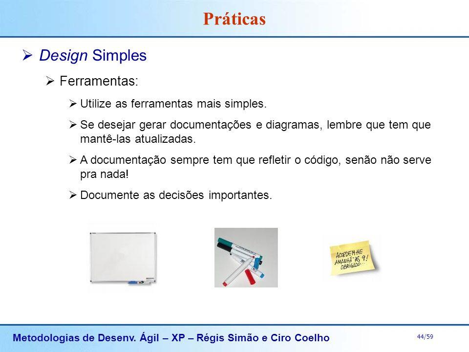 Práticas Design Simples Ferramentas: