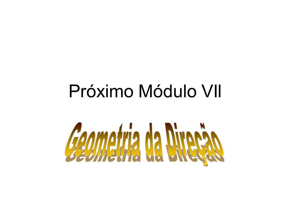 Próximo Módulo VIl Geometria da Direção