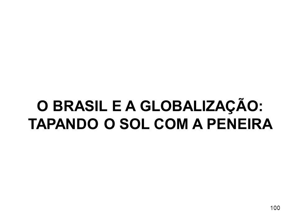 O BRASIL E A GLOBALIZAÇÃO: TAPANDO O SOL COM A PENEIRA