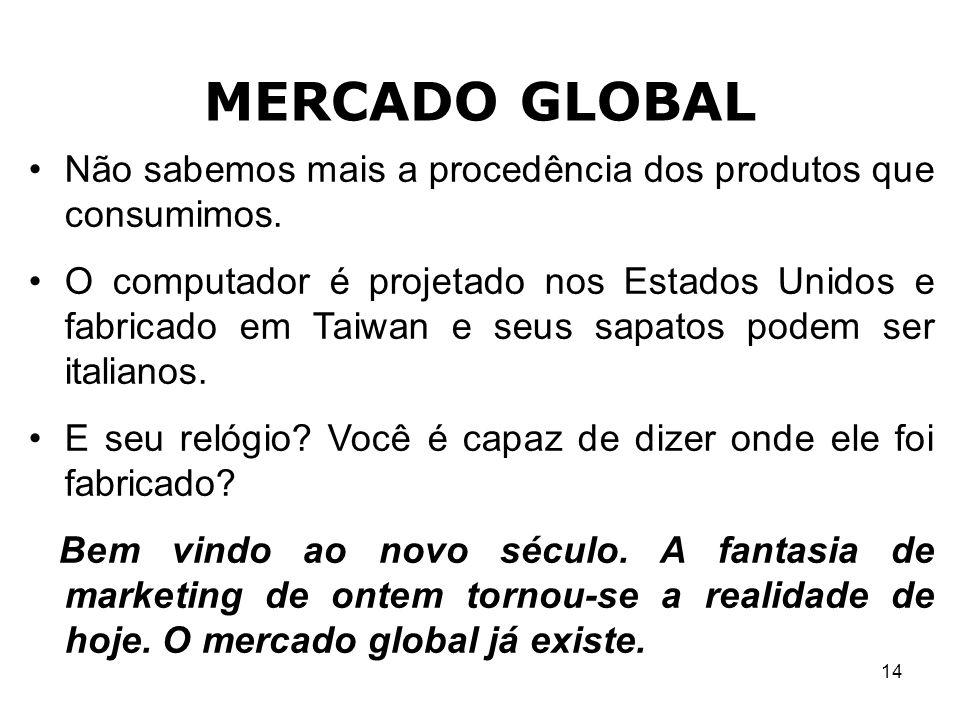MERCADO GLOBAL Não sabemos mais a procedência dos produtos que consumimos.